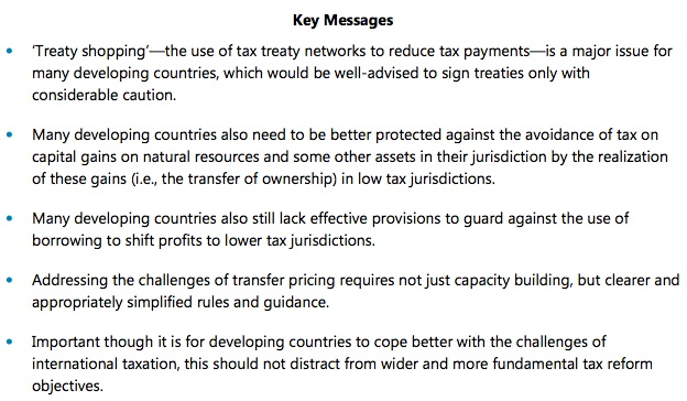 IMF messages developing