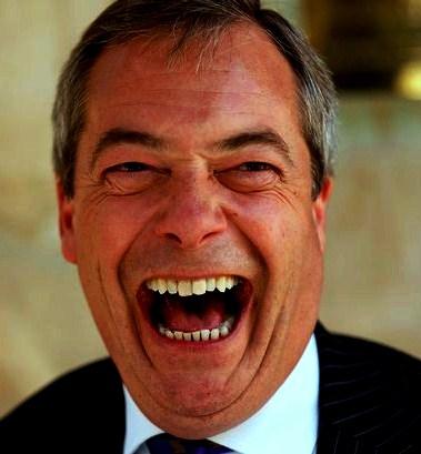 Britain's Farage - politics is such a laugh