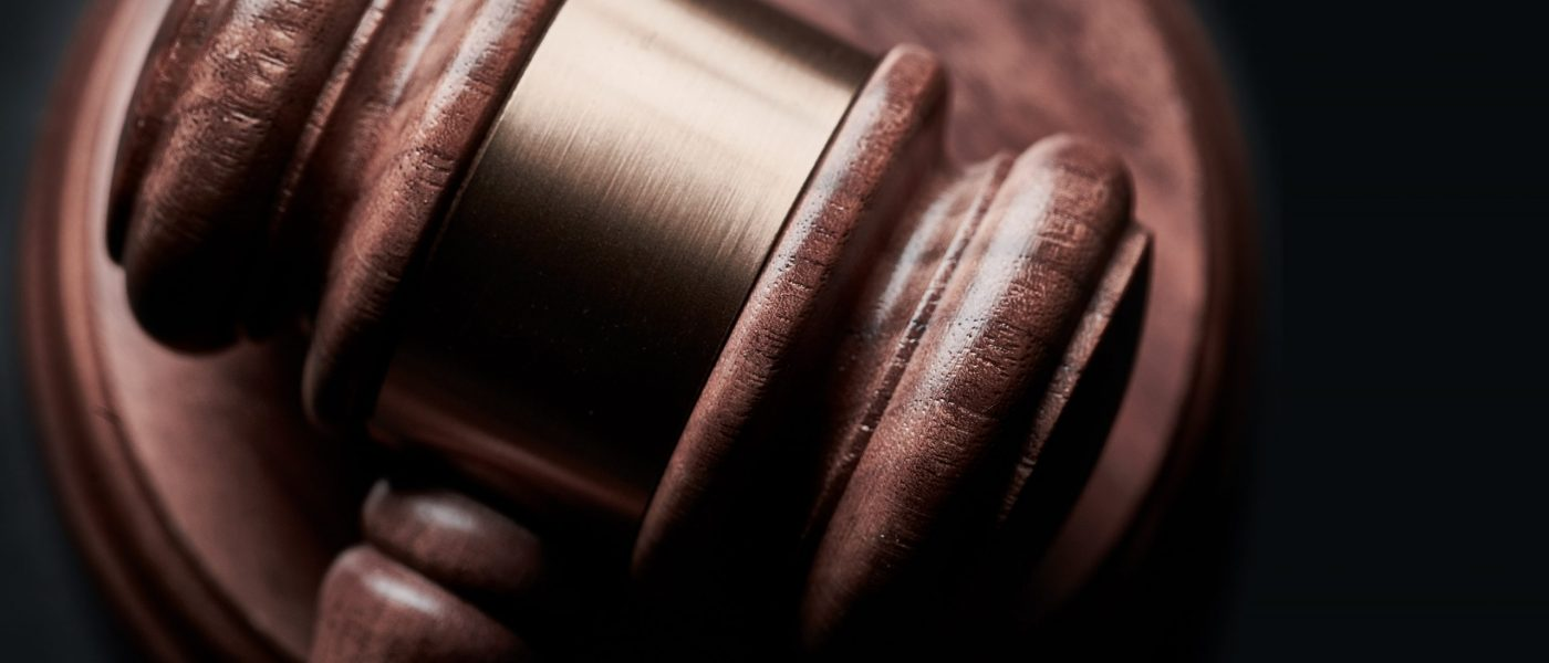 Close up of a gavel